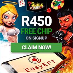 7Spins Casino - R450 Free No Deposit Bonus